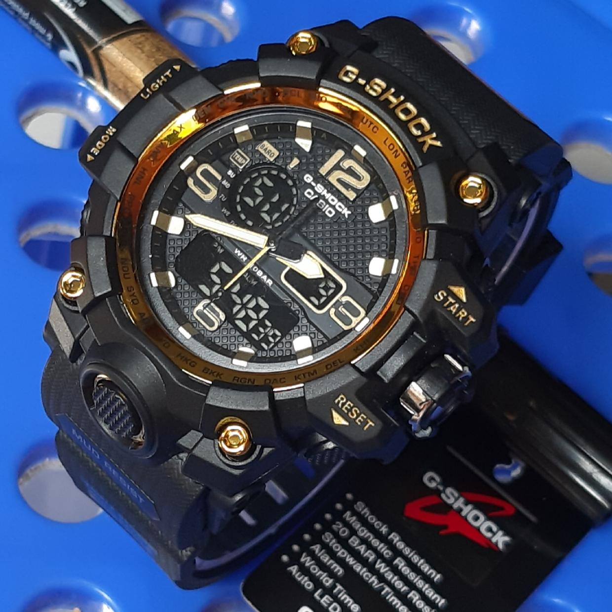 Jam tangan pria CASIO g shock_gg2018 fashion sport dual time limited editions