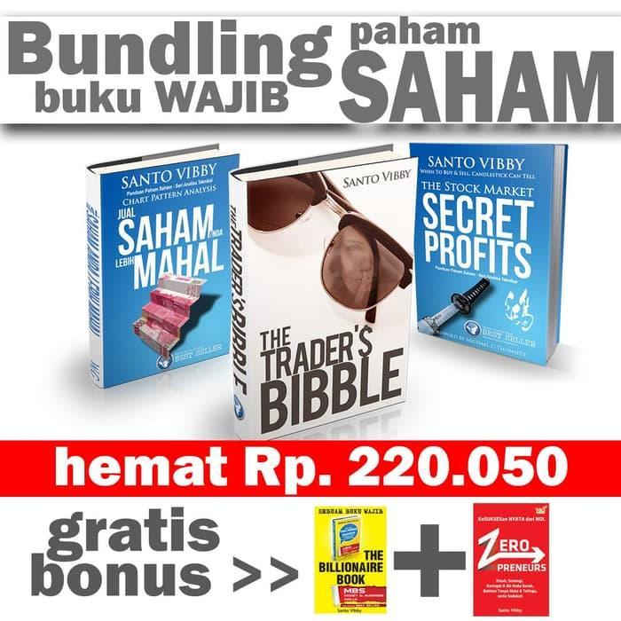 Bundling Trading 3 Buku Saham Terbaik + Gratis bonus 2 buku Financial