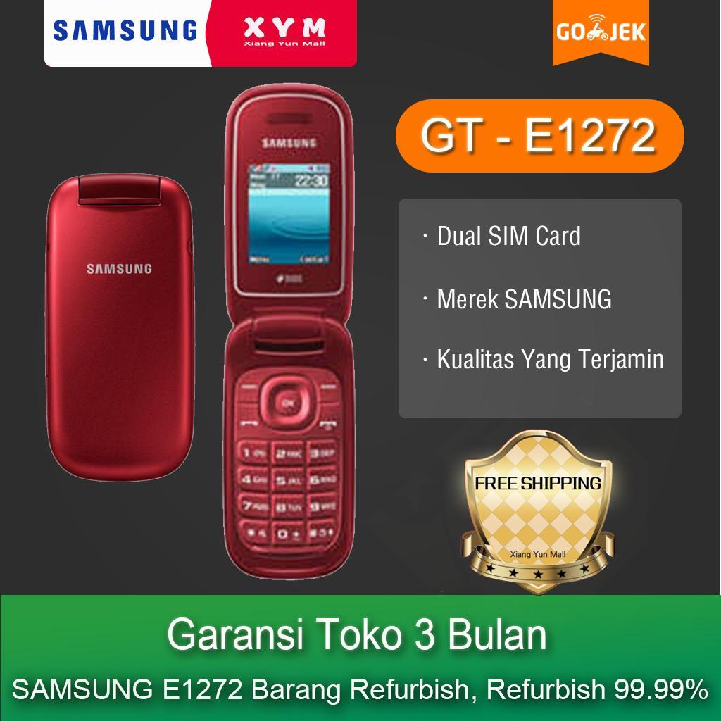 Samsung E1272 hp - COD, Gratis Ongkir, Garansi Toko 3 Bulan, Merek Samsumg, Kualitas Yang Terjamin, Dual SIM Card (Refurbish)