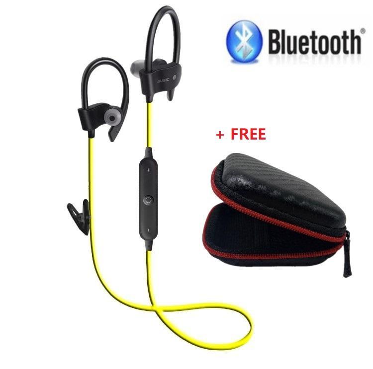 Bluetooth Headphone Wireless Sport latihan Earbuds V4.1 dengan Mic Mini Ringan Hands-free