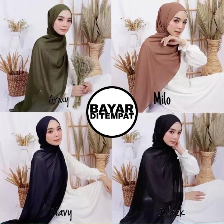 Hijab Pashmina Ceruty Babydoll Bisa Bayar Di Tempat