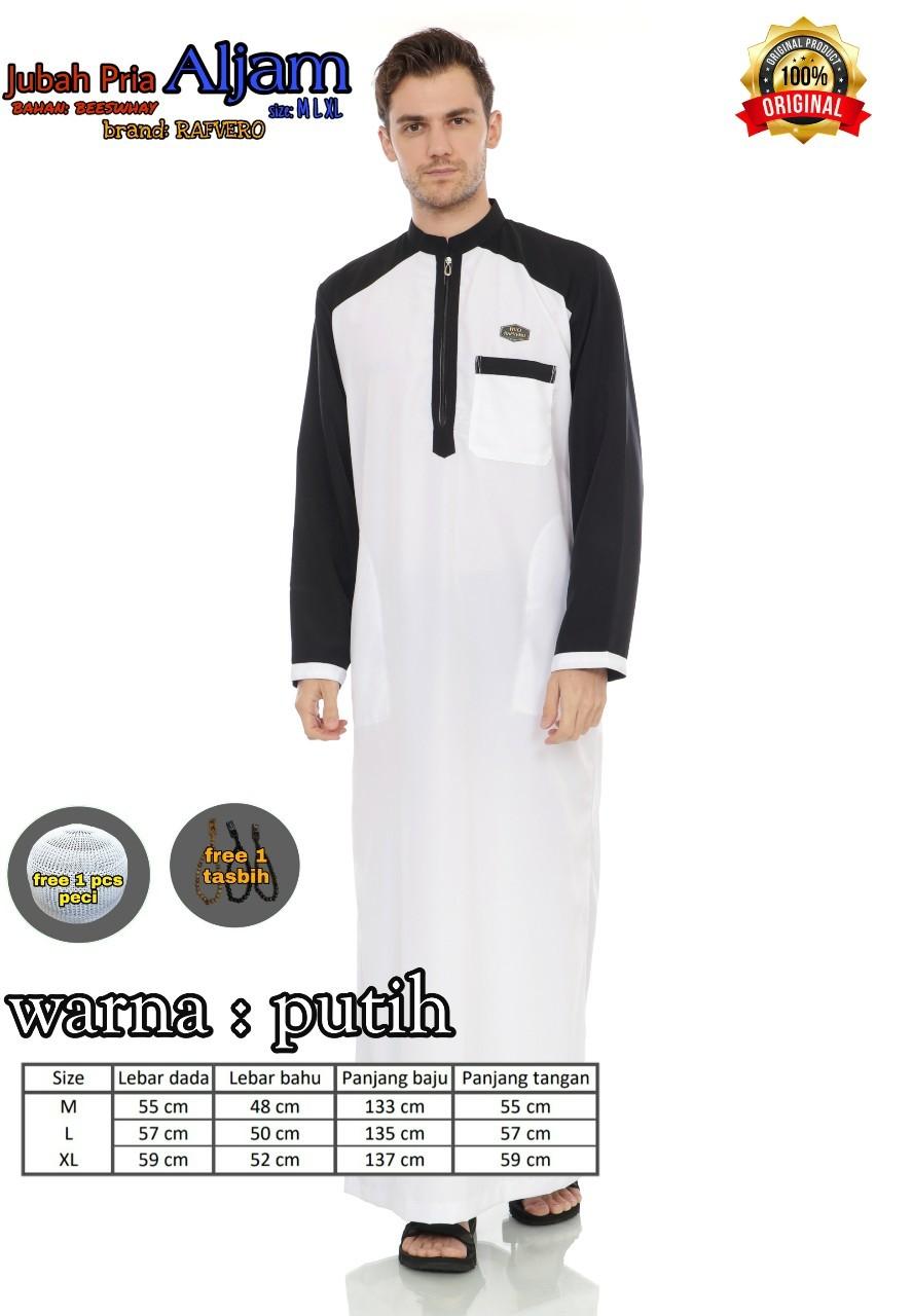 Jubah Dewasa Pria Gamis Muslim Pria Warna Hitam Free Tasbih Peci Lazada Indonesia