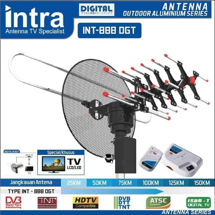 intra int 888 dgt antena digital tv outdoor remote for tabung led tv