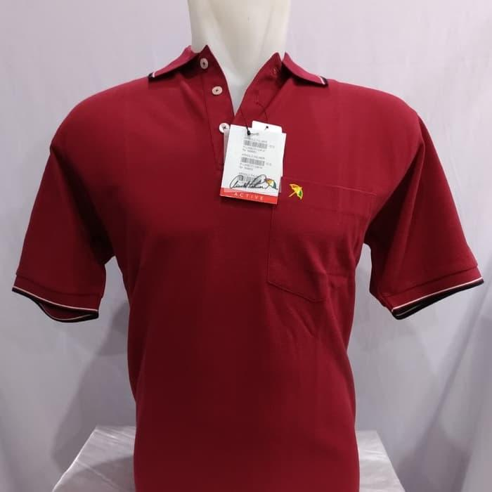 Kaos Kerah Polo Shirt ARNOLD PALMER Original Merah Maroon - Maroon, S