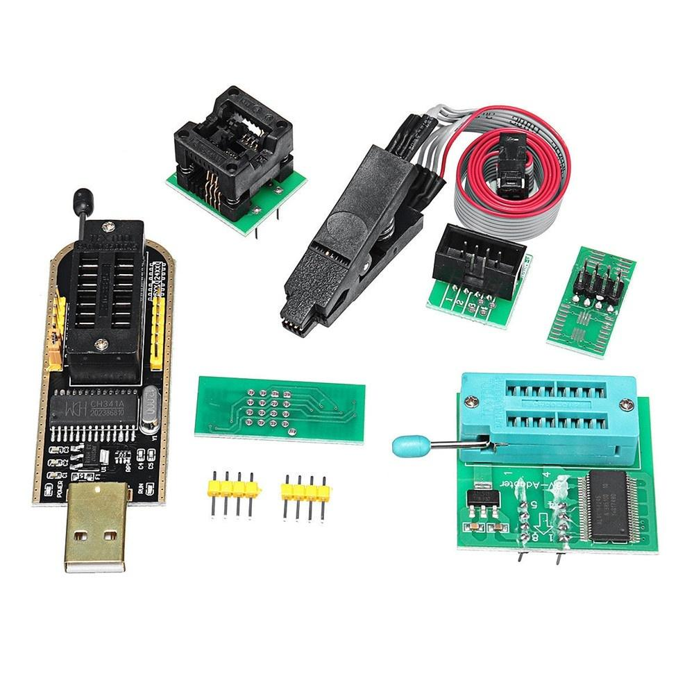 Stable Lcd Flash 1.8V Adapter 24/25 Series Spi Usb To Ttl Soic8 Clip Ch341A Usb Programmer