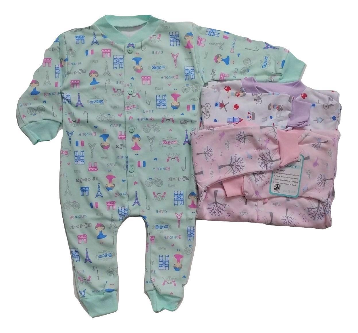 Jelova Angela 3pcs Jumper Baby Bayi BK Owl 3-6 Months GIRLS - Mixcolours