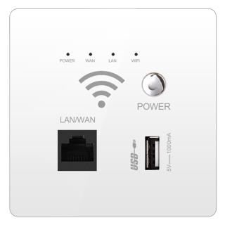 Ổ Cắm WiFi Không Dây, Rơle AP Ổ Cắm USB Thông Minh, Tấm Kính Pha Lê Bộ Định Tuyến WIFI Gắn Tường 300Mbps thumbnail