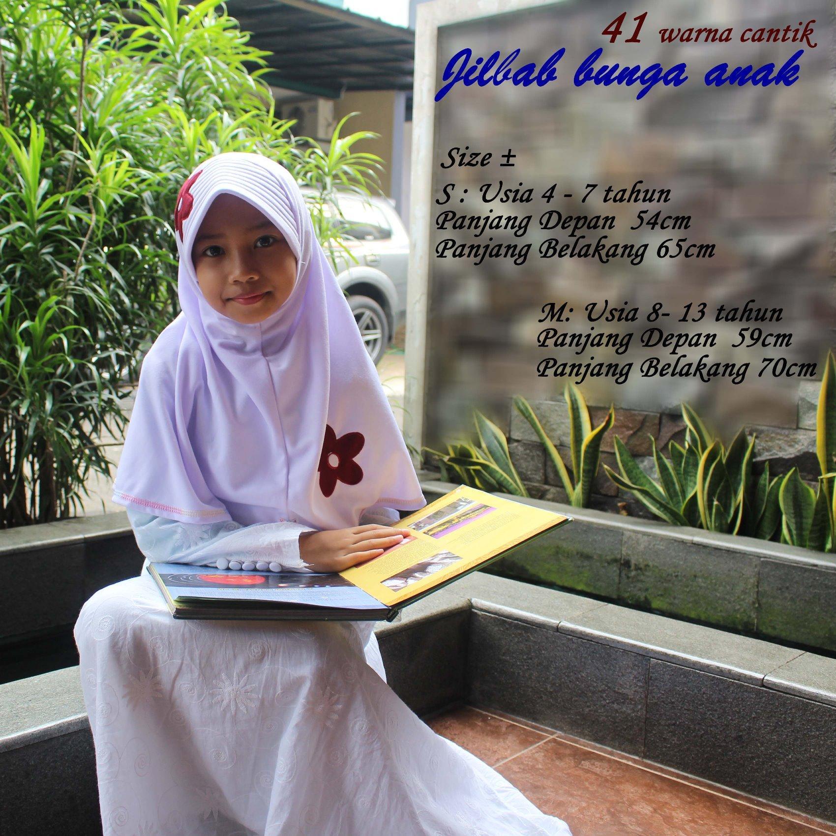Jilbab Anak Vania Bunga Ceplok