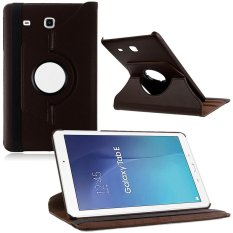 360 Rotating Leather Case Cover Stand for Samsung Galaxy Tab E T560 9.6 inch (Brown)