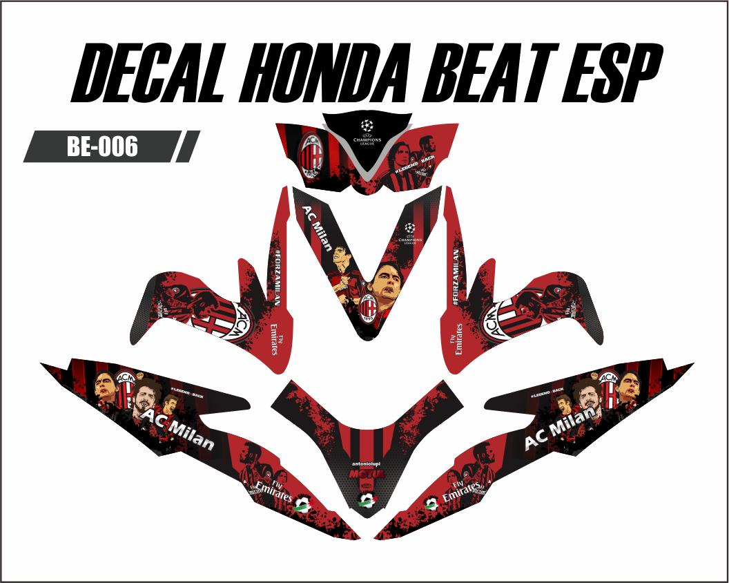 Lazada Prioritas Sticker Decal Honda Beat ESP / Street - AC MILAN FIX