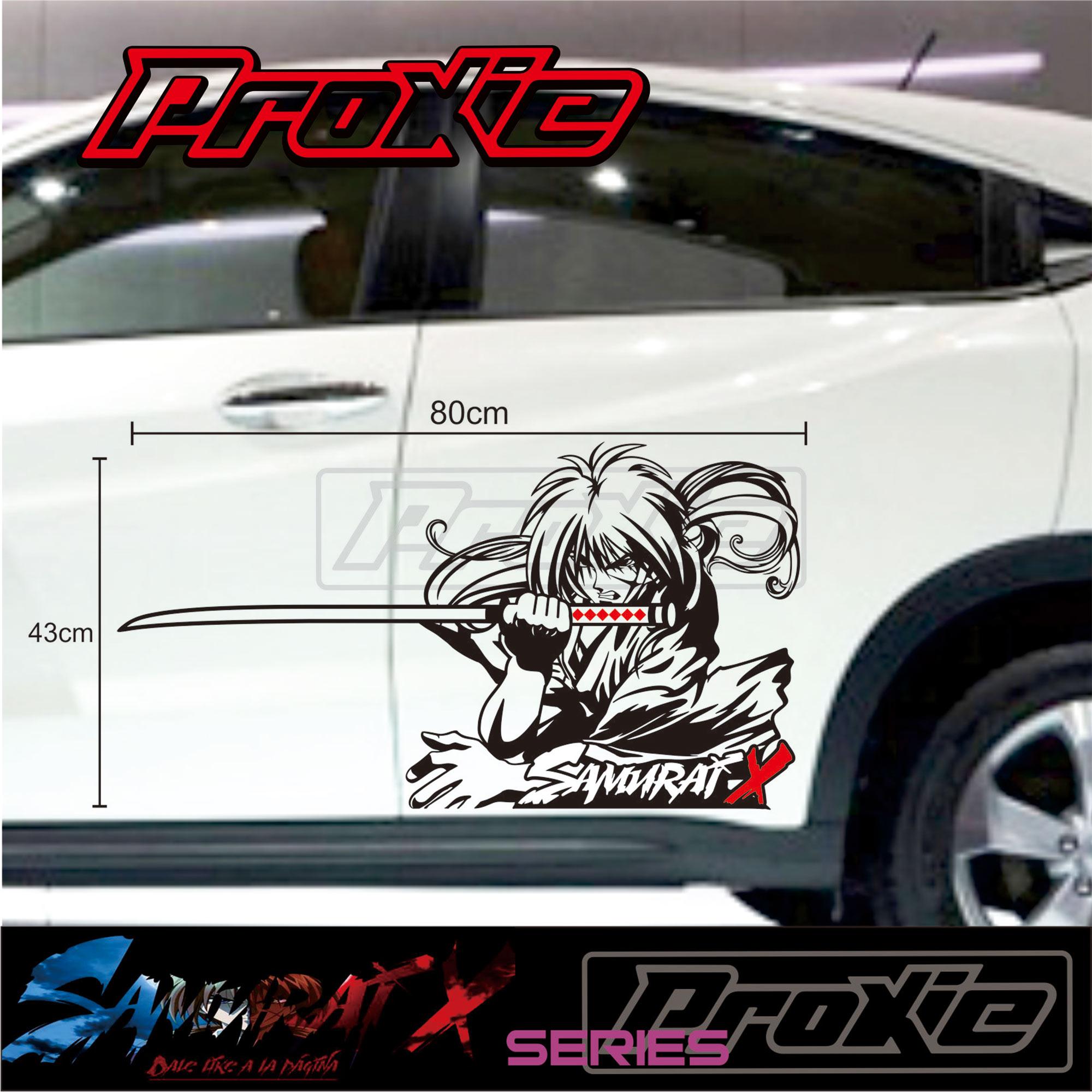 Termurah Cutting Sticker Mobil Sticker Animasi Samurai X Lazada Indonesia