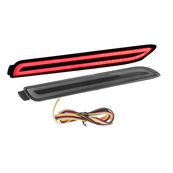 3 Functions LED Car Rear Bumper Reflector Tail Brake Light Bar for Toyota Camry Reiz-WISH SIENNA Innova-Lexus ISF GX470 RX300