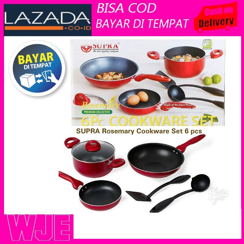 PANCI MURAH SUPRA ROSEMARY 6 Pcs Cookware/Panci Seat Kualitas Eropa
