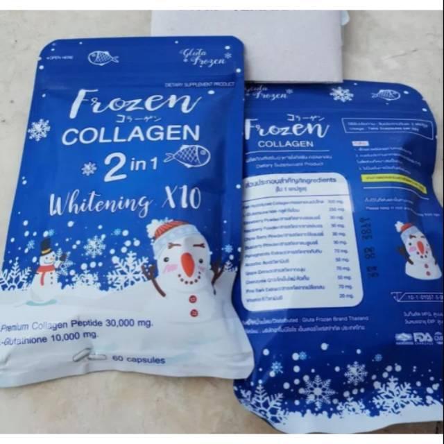 Bisa Bayar Di Tempat (cod) [ Collagen ] Frozen Collagen 2 In 1 Whitening X 10 Thailand By Rumah-Kosmetik