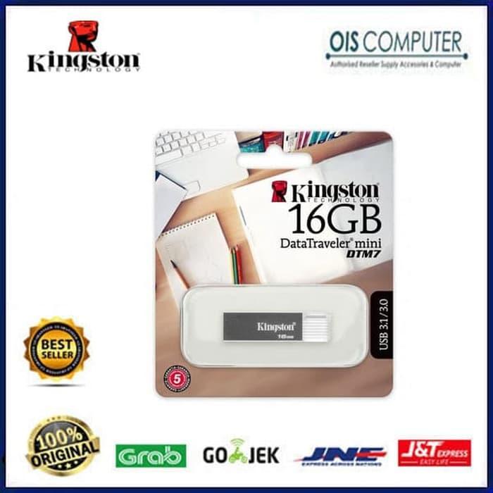 Promo         Kingston USB Flashdisk 16Gb DTM7 USB3.1 3.0 2.0 Fash Disk 16 Gb         Diskon