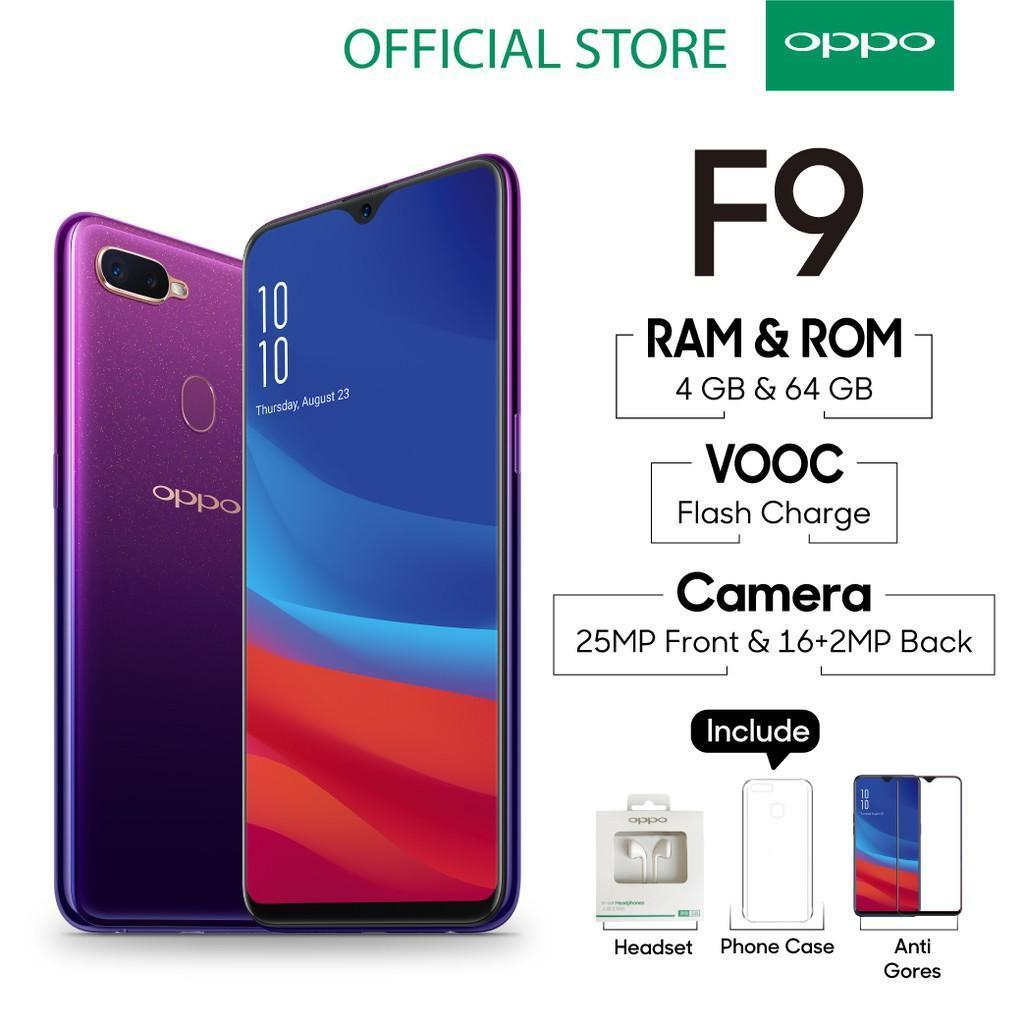 OPPO F9 - 4GB/64GB - GARANSI RESMI - PURPLE