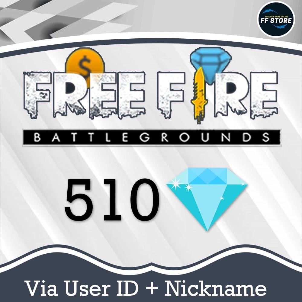 Garena Free Fire - 510 Diamond (via ID)