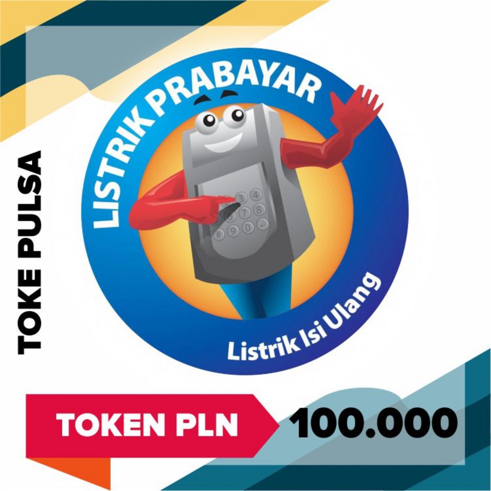 Toke Pulsa - Pln Token Prabayar 100.000 (cantumkan Id Meter Di Alamat Pengiriman) By Toke Pulsa.