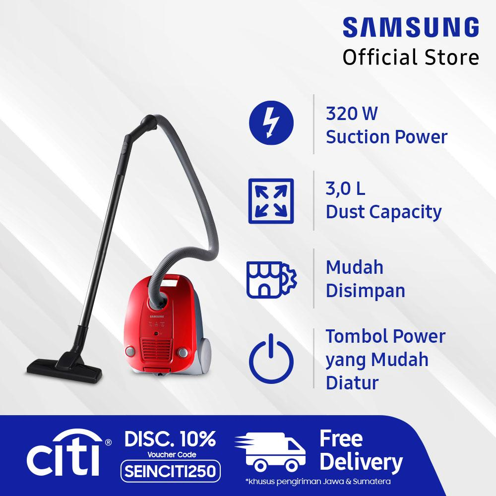 [GRATIS ONGKIR] Samsung Canister Vacuum Cleaner, 320 W - VCC4130S37/XSE