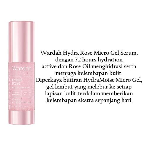Wardah Hydra Rose Micro Gel Serum 30ml Lazada Indonesia