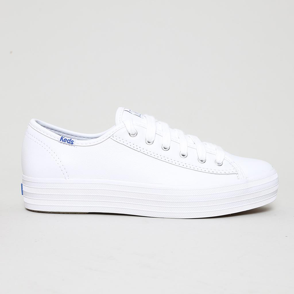 36376cedd5164 Footwear Wanita Sneakers Keds Triple Kick Leather White (WH57310)
