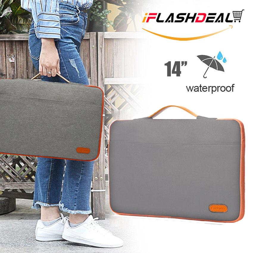 iFlashDeal Laptop Cases, 14 Inch Laptop Bag Ultra-Slim Padded Laptop Sleeve Case Pouch Bag Protective Bag Cover Computer Pocket Tablet Briefcase Carrying Bag with Handle & Accessories Pockets