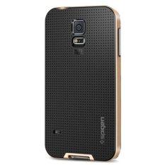 Spigen Neo Hybrid Series TPU + Polycarbonate Combination Case for Samsung Galaxy S5 / G900 - Golden