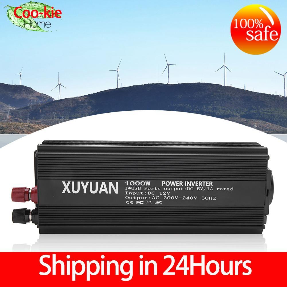 【shipping in 24 hours】Gelombang Sinus Murni Inverter 12 V Converter 220 V 1000