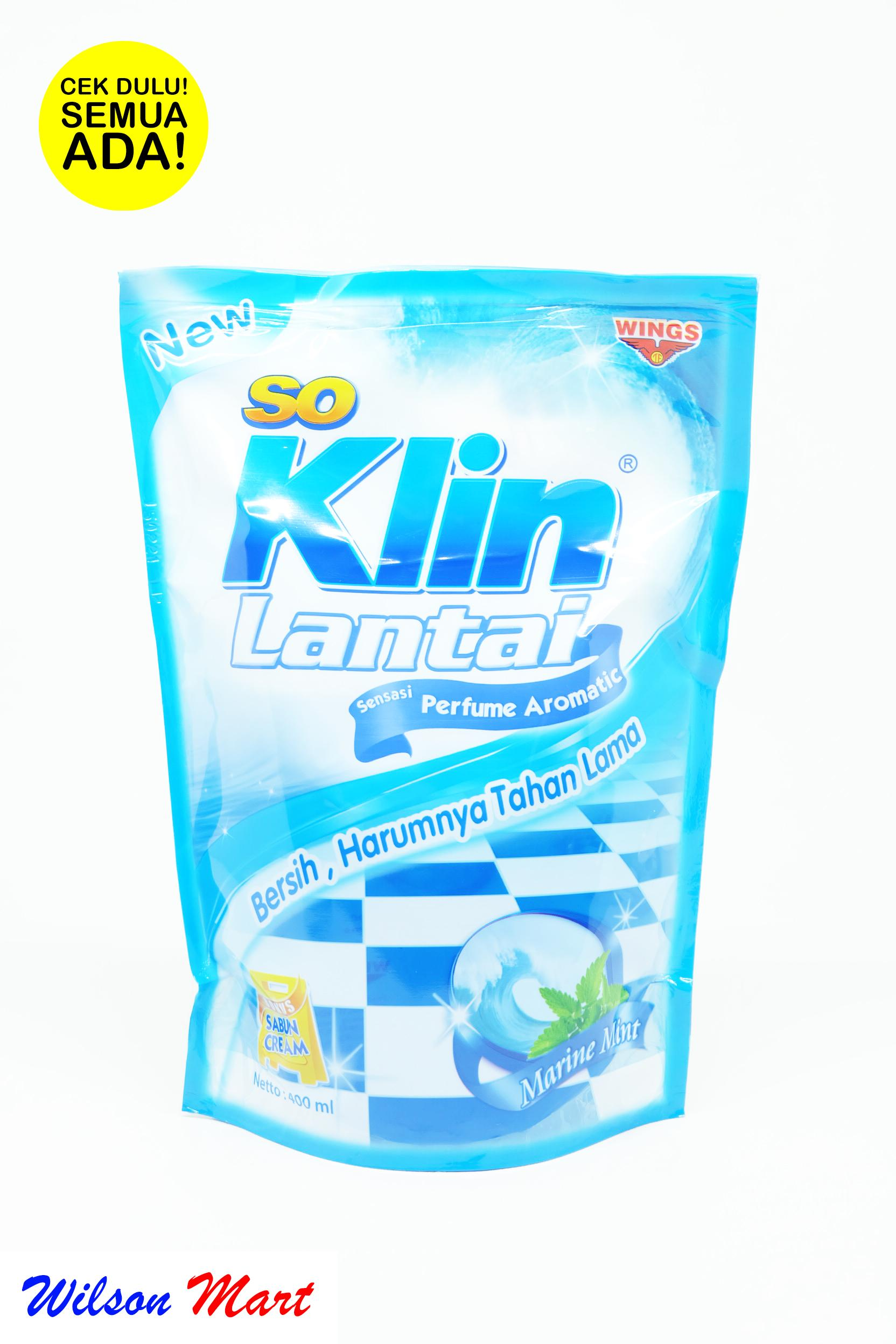 SO KLIN LANTAI BIRU MARINE MINT 400 ML REFILL