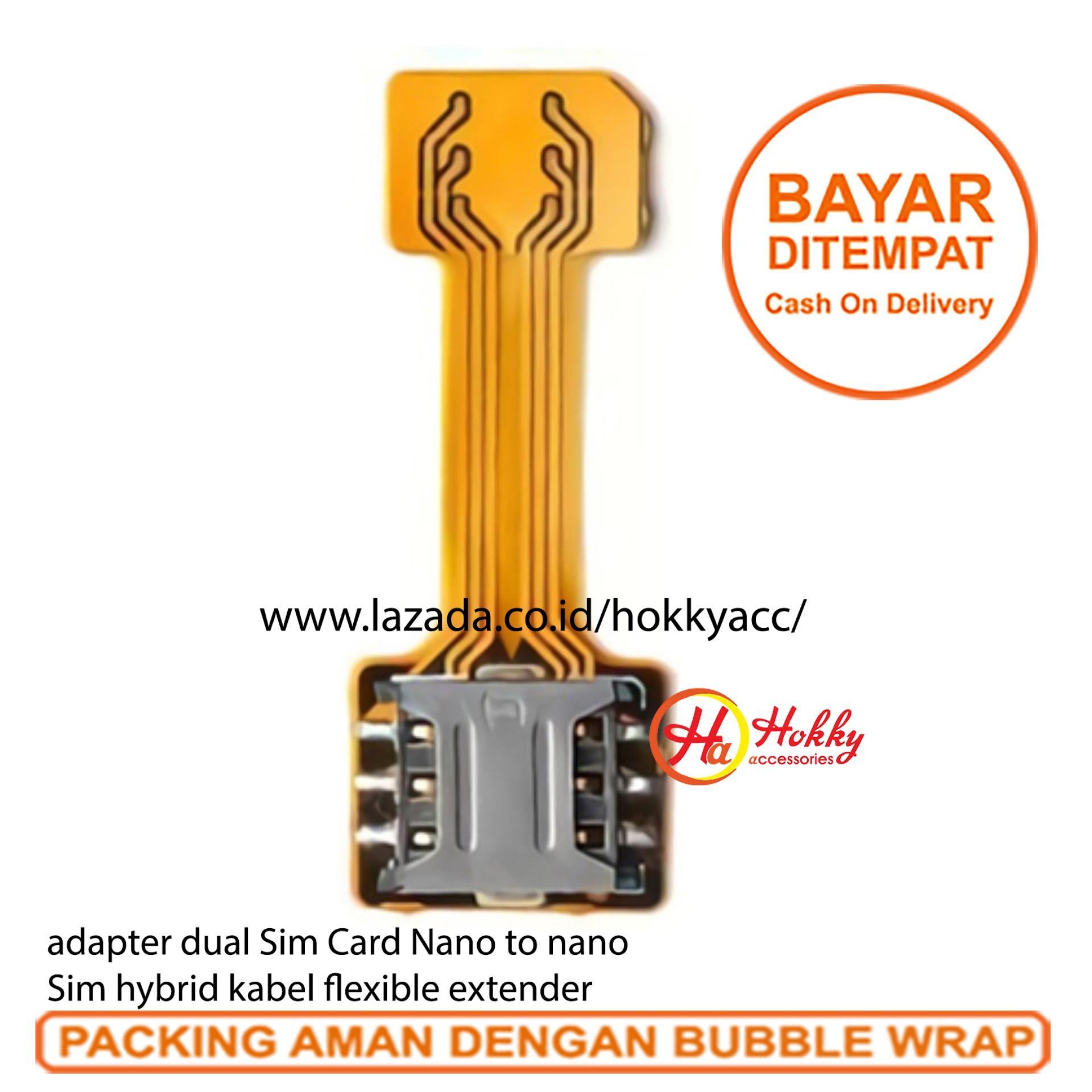 Adapter dual Sim Card Nano to nano sim hybrid kabel flexible extender