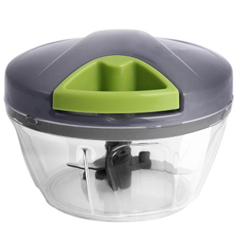 Manual Meat Grinder Chopper Food Processor Vegetable Cutter Shredder Fruit Mincer Mixer Blender Kitchen Accessories Gray