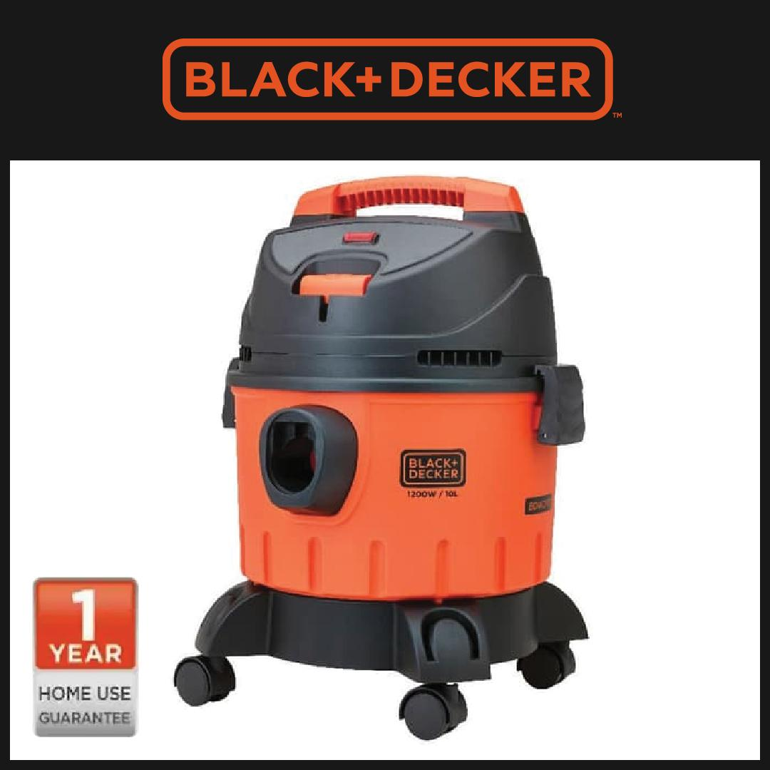 Black + Decker Vacuum Cleaner Wet & Dry 10L (BDWD10-B1)
