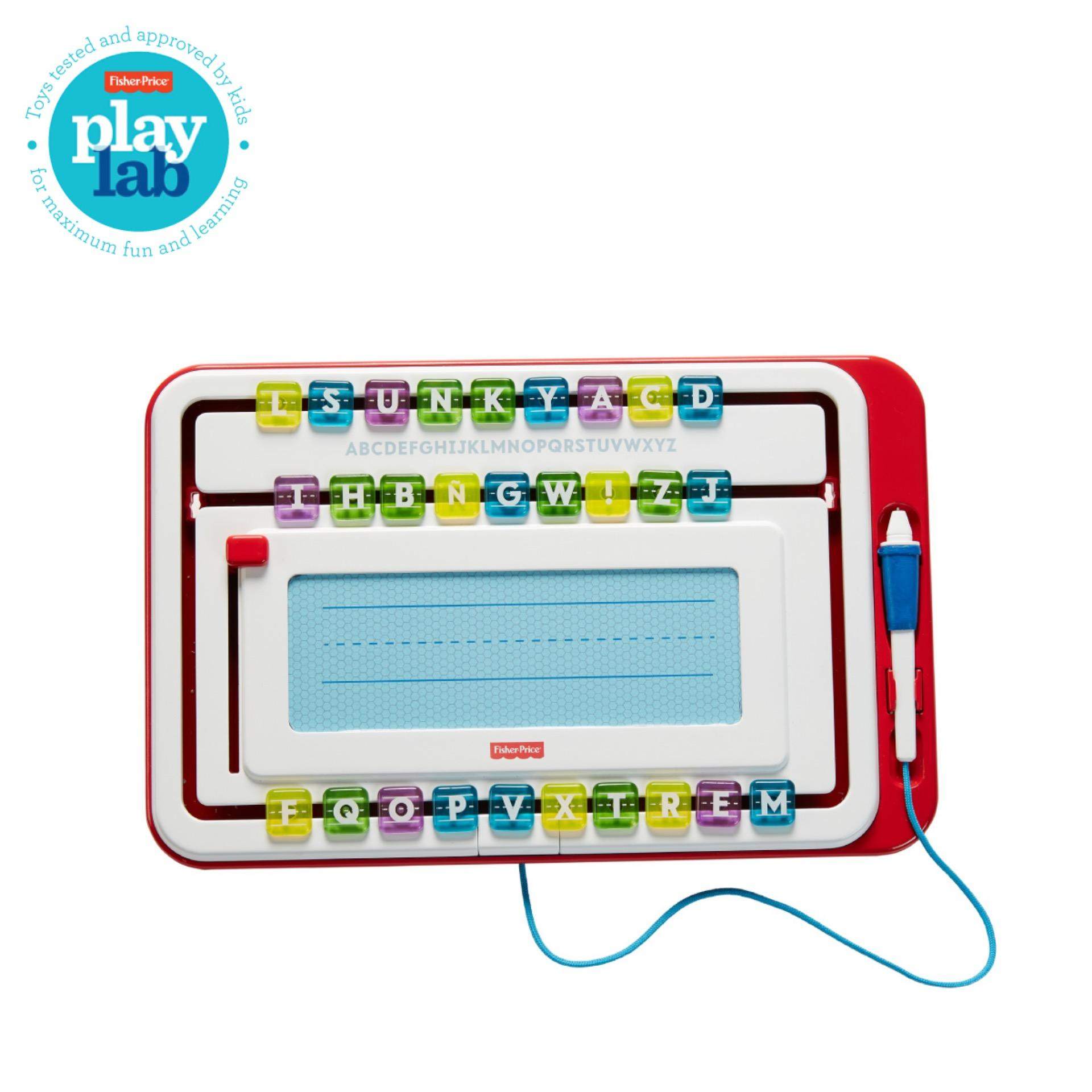 Fisher Price Think and Learn Alpha Slide Writer - Mainan Edukasi Belajar Menulis Anak Balita