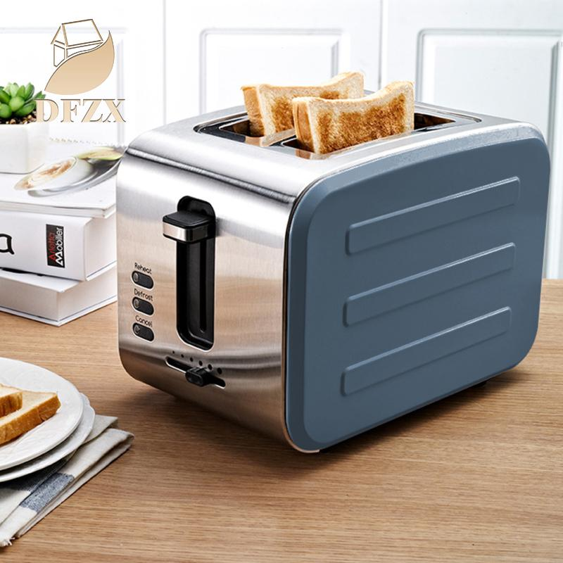 DFZX Trade Home Stainless Steel Stainless Steel 2 Slices Bread Making Breakfast Machine
