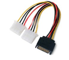 SATA Male To 2 IDE Splitter Female Power Cable
