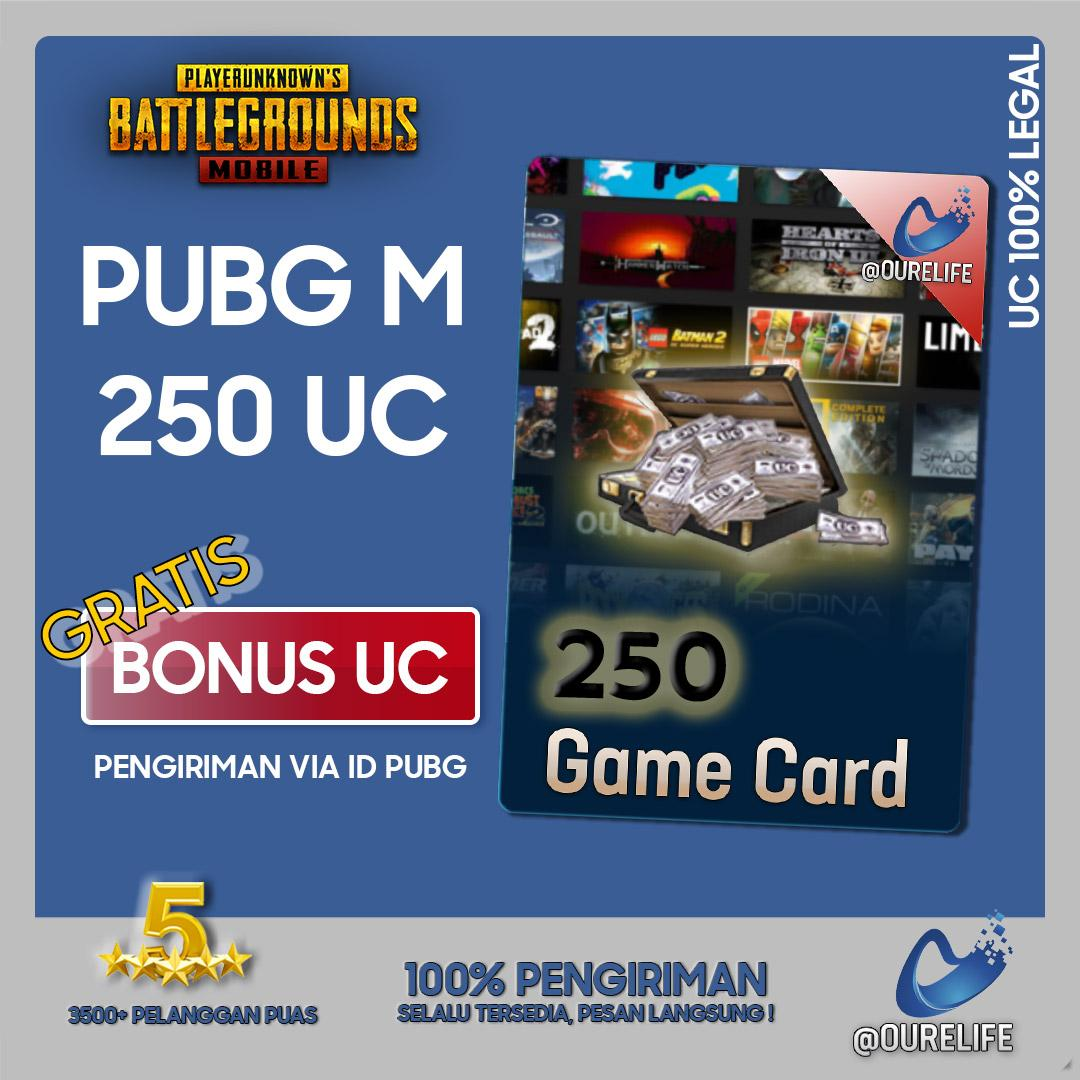 Player Unknowns Battleground Mobile (pubg Mobile) 250 Unknown Cash (uc) By Ourelife.co.id.