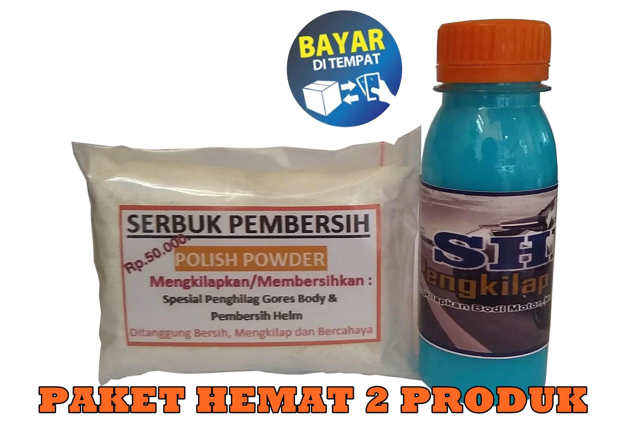 Paket Poles Magic + Spesial Pengkilap (penghilang Baret Halus Di Bodi Motor, Mobil, Helm) By Magic Polisher.