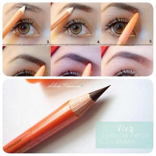 Pensil Alis Viva Eyebrow Pencil - Coklat