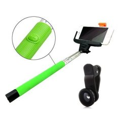 Promo Monopod Bluetooth Z07 05 Green Lens Clip 3In1 Fisheye Black Indonesia