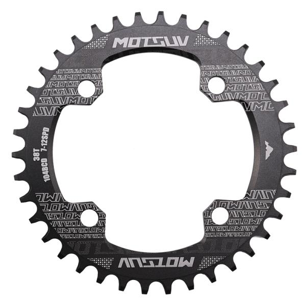 Mua MOTSUV Bicycle Crank 104BCD Round Shape MTB Chainring Bicycle Chainwheel Bike Circle Crankset Single Plate