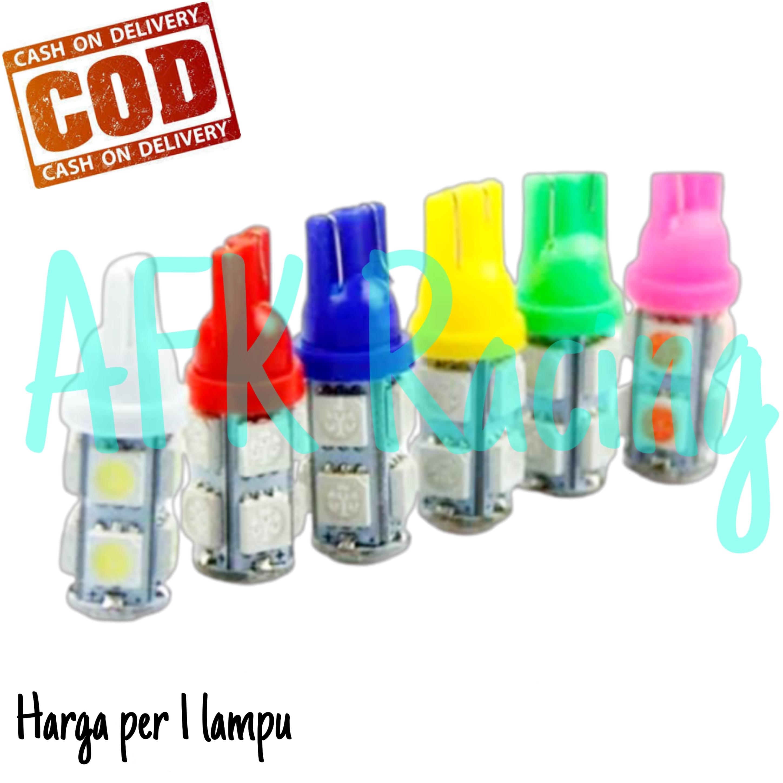 Lampu senja sein Led Colok Tancap T10 9 Mata / Titik Motor Mobil Universal TIPE DIAM - AFK RACING