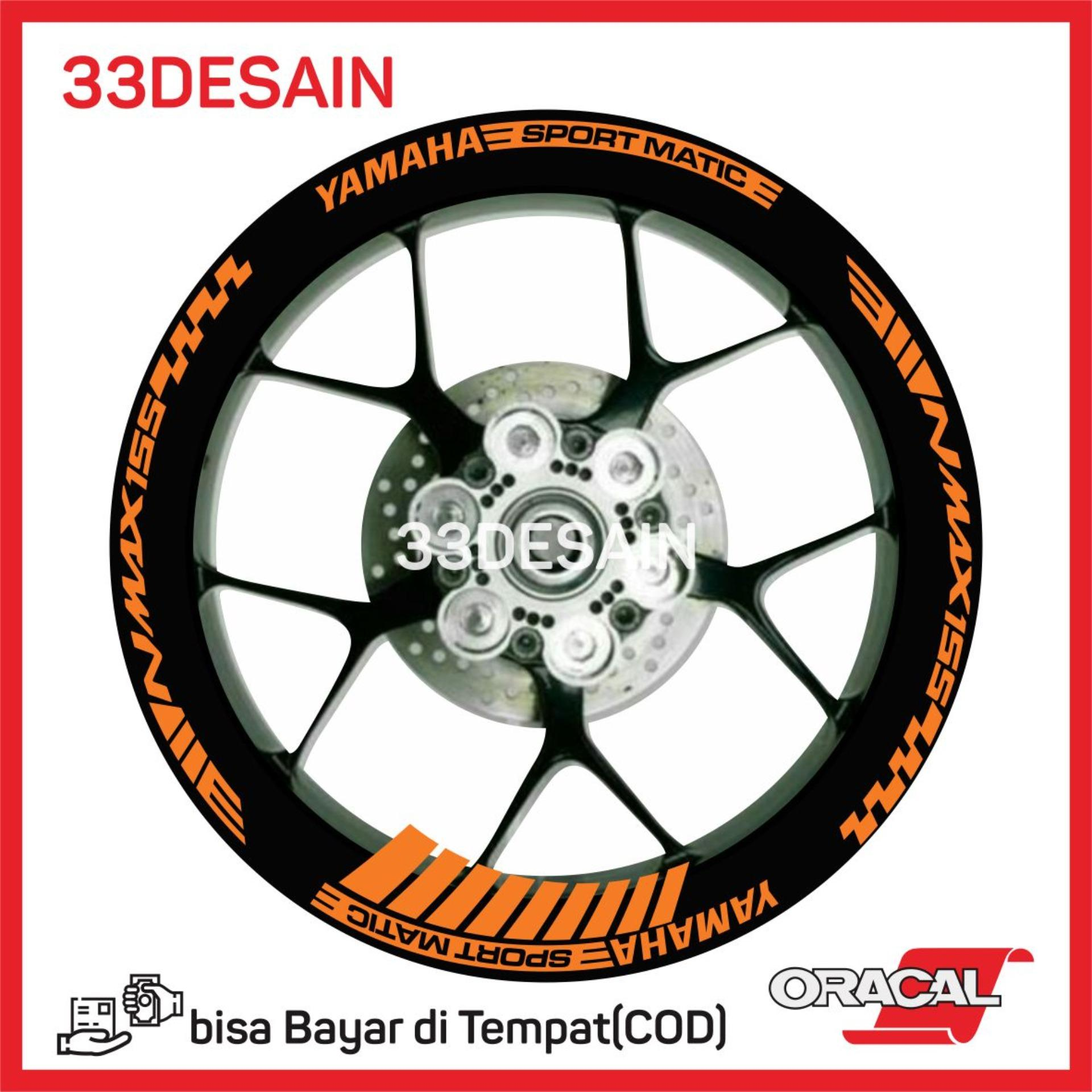 33sticker aksesoris motor stiker cutting 9 velg yamaha nmax orange 33desain