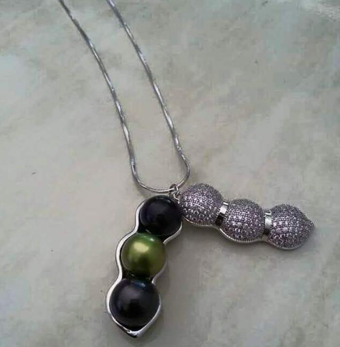 Kalung Rhodium Mutiara Tawar By Lombok_pearls.
