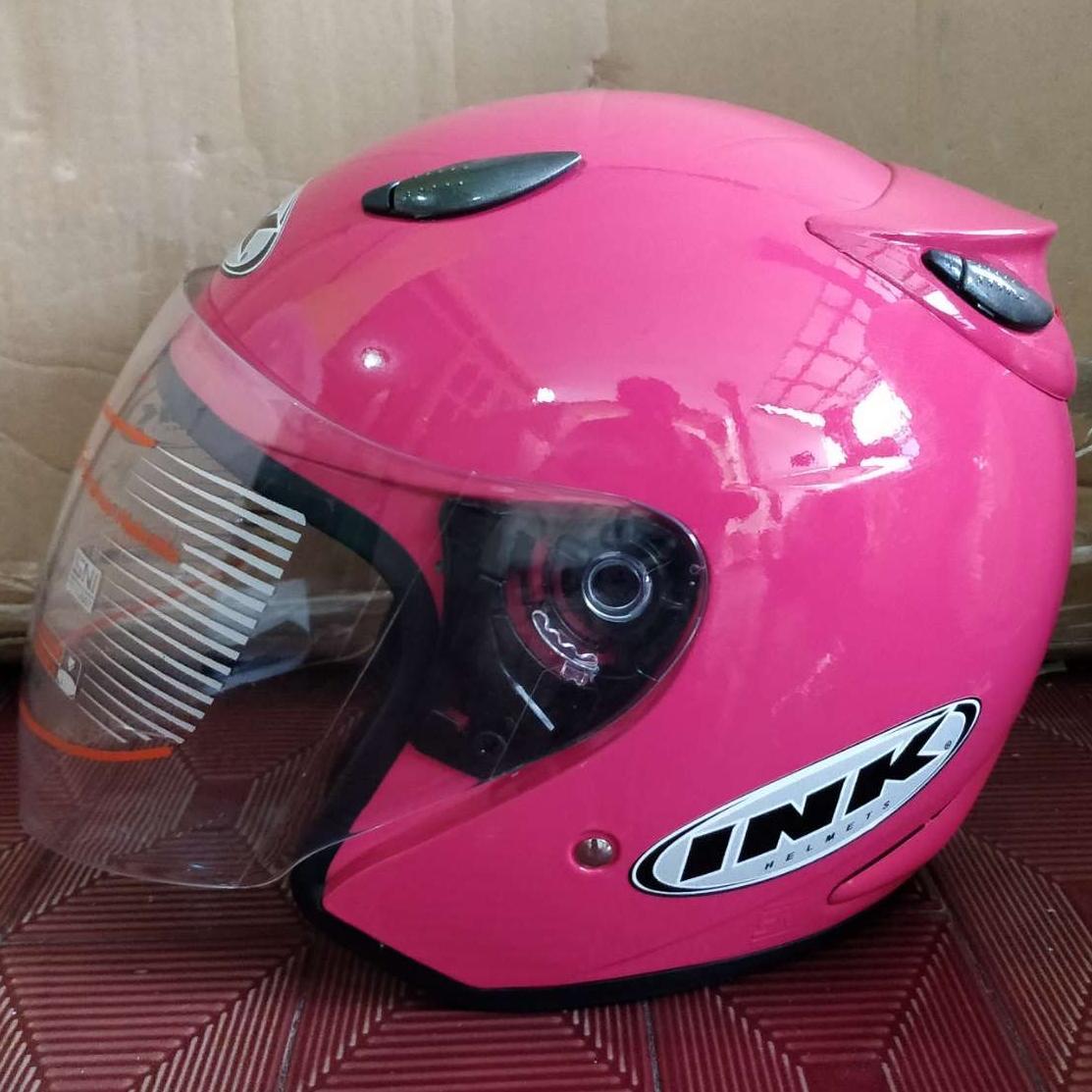 Helm ink centro pink magenta replika bkn original kyt bogo anak khusus dewasa pria wanita