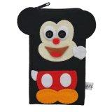 Jual Flanelade Sarung Handphone Mickey Hitam Lengkap
