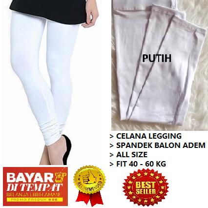 Cicilia Shop Legging Putih Polos Lejing Polos Celana Legging Murah Celana Murah Lazada Indonesia