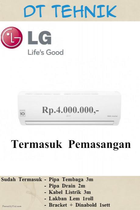 LG 1/2 PK F05NXA Termasuk Pipa Bracket dan Pemasangan