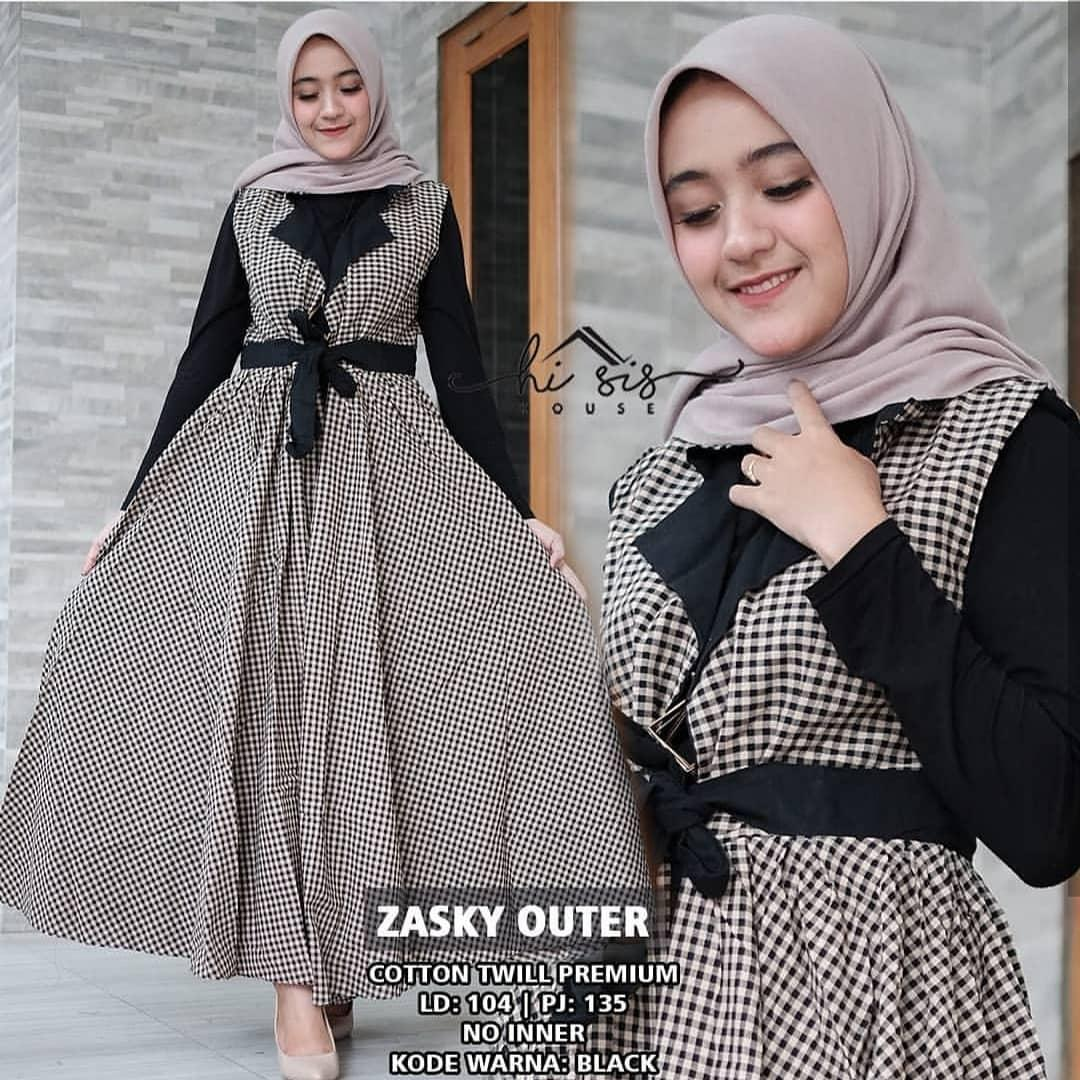 Zasky Outer   Outher Wanita   Outer Wanita Muslim   Outer Cardigan   Long  Outer   ac17f3aa24