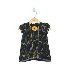 MenthikBatik Dress Tenun Endek - Hitam