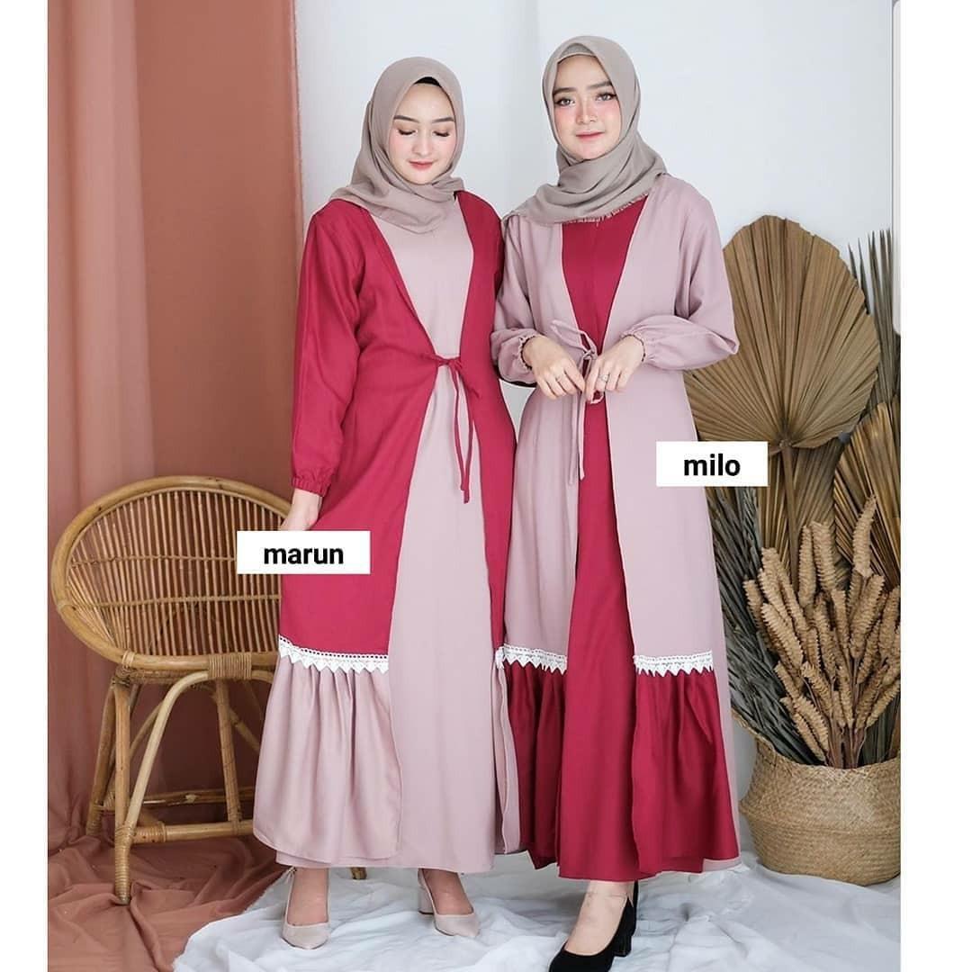 Remaja Stile - Nanami Dress Terbaru 12 / Harga Satuan / Baju Gamis Wanita  Terbaru / Long Dress Terbaru / Fashion Motif Terbaru 12 / Gamis Panjang